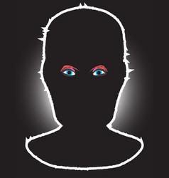 Black balaclave and eyes vector