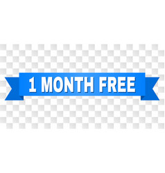 blue ribbon with 1 month free title vector image