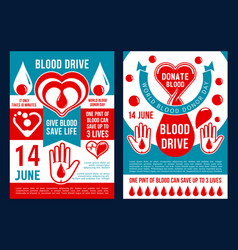 Brochure for world blood donor day vector