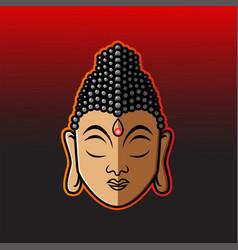 buddha head mascot logo vector image