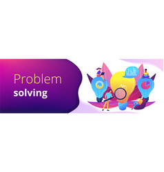 Business solution concept banner header vector