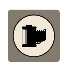 Camera photographic roll isolated icon vector