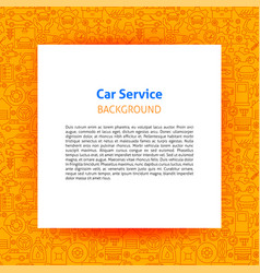 car service paper template vector image