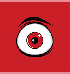 Cartoon funny green eyes for comics design art vector