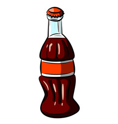 Cartoon image of bottle icon coke drink symbol vector