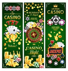 casino online gambling jackpots banners vector image