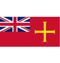 Civil ensign guernsey vector