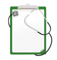clipboard stetoscop vector image