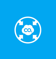 Co2 reducing carbon emissions icon vector