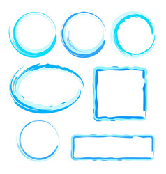 collection of abstract water frames for design vector image