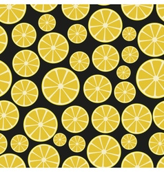 Colorful sliced lemon fruits seamless pattern vector