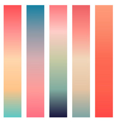 coral color gradients vector image