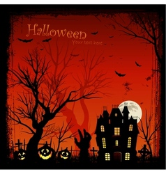 Creepy halloween background vector