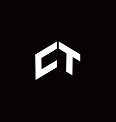 Ct logo monogram modern design template vector