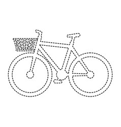 cute bicycle with basket vector image