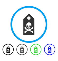 death mark rounded icon vector image