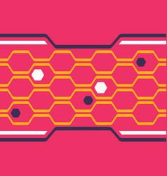 digital honeycomb seamless pattern vector image
