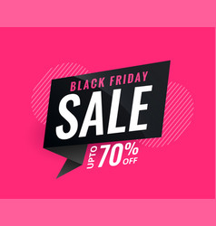 Discount sale banner for black friday vector
