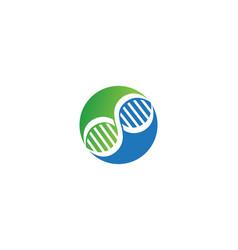 dna logo health vector image