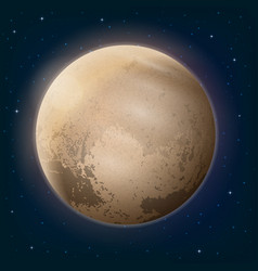 Dwarf planet pluto in space vector