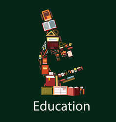 education and science microscope symbol vector image