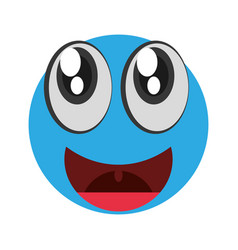 emoticon happy april fools day vector image