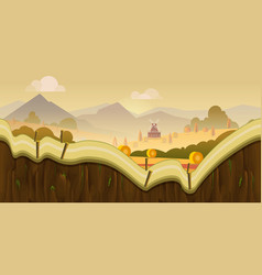 farm game background 2d application desig vector image