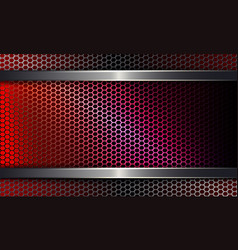 geometric background with a metal grille of a red vector image
