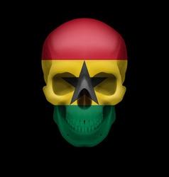 Ghanian flag skull vector