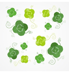 Green Clover Leaves vector