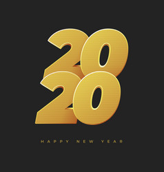 happy new year 2020 golden numbers 2020 vector image
