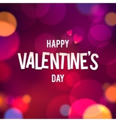 Happy Valentine s Day Bokeh Background vector