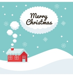 House and bubble icon merry christmas vector