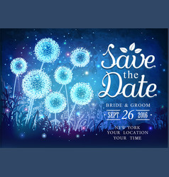 inspiration card for wedding with magical light vector image