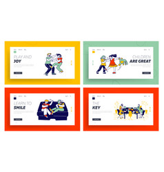 kids fighting financial school class website vector image