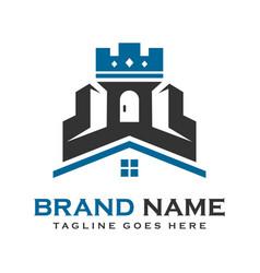 logo castle house vector image