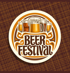 Logo for beer festival vector