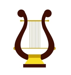 Lyre flat icon vector image
