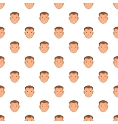 Male face pattern cartoon style vector image