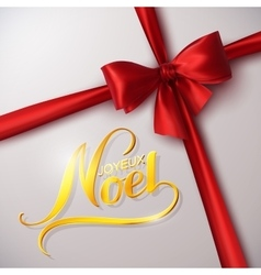 Merry Christmas Joyeux Noel vector image
