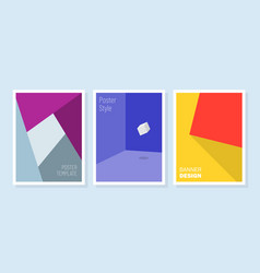 minimal covers design geometric patterns vector image