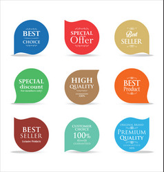 modern sale badges collection 2 vector image