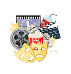 movie time cinema poster vector image