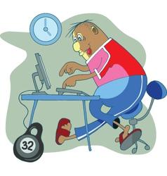 Office worker vector