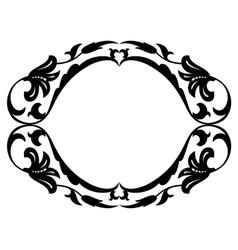 Oval baroque ornamental decorative frame vector