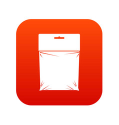 Package icon digital red vector
