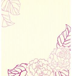 peonies background vector image