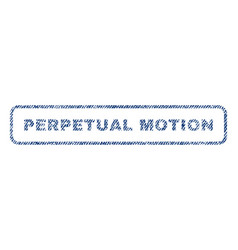 Perpetual motion textile stamp vector