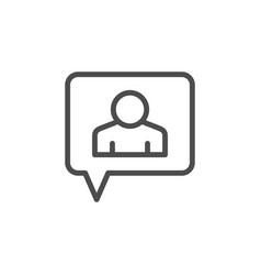 person conversation line icon vector image