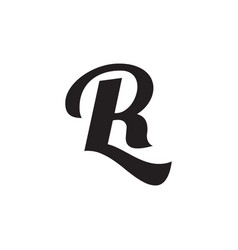 R l l letter logo design vector